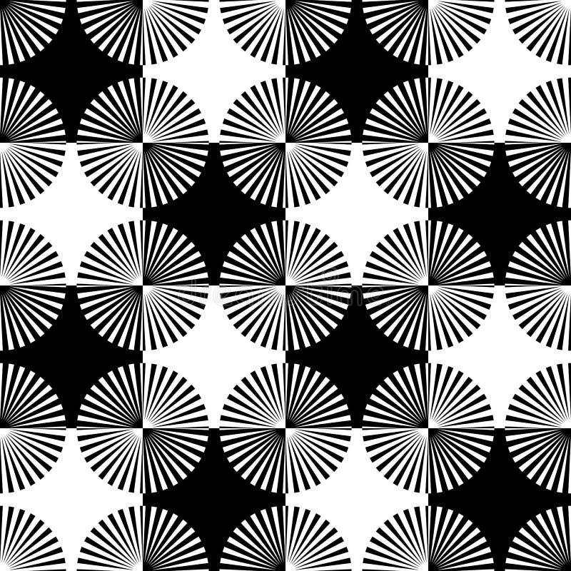 Rayos de Starburst, modelo geométrico inconsútil de los haces R monocromático stock de ilustración
