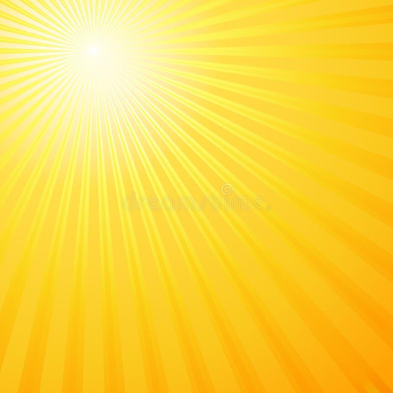 Rayos de Sun ilustración del vector