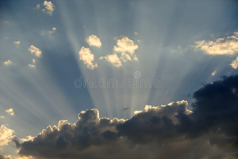 Rayos de Sun fotos de archivo