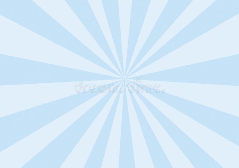 Rayos del azul de bebé ilustración del vector