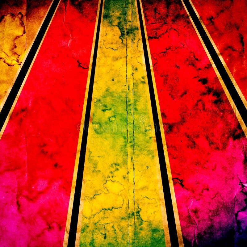 Rayos del color del Grunge stock de ilustración