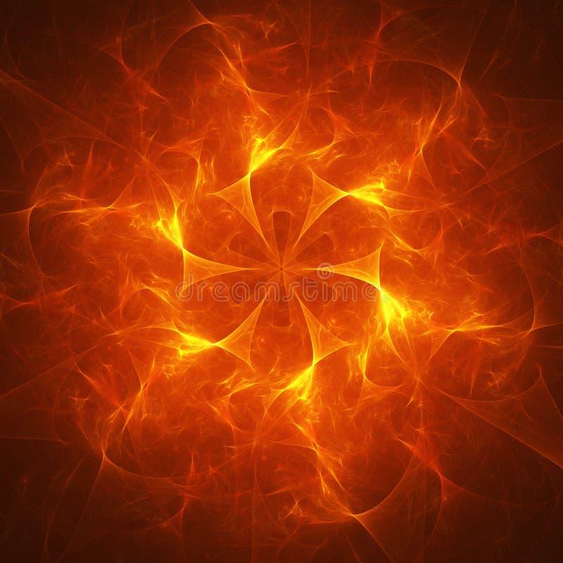 Rayos del fuego del caos foto de archivo libre de regalías