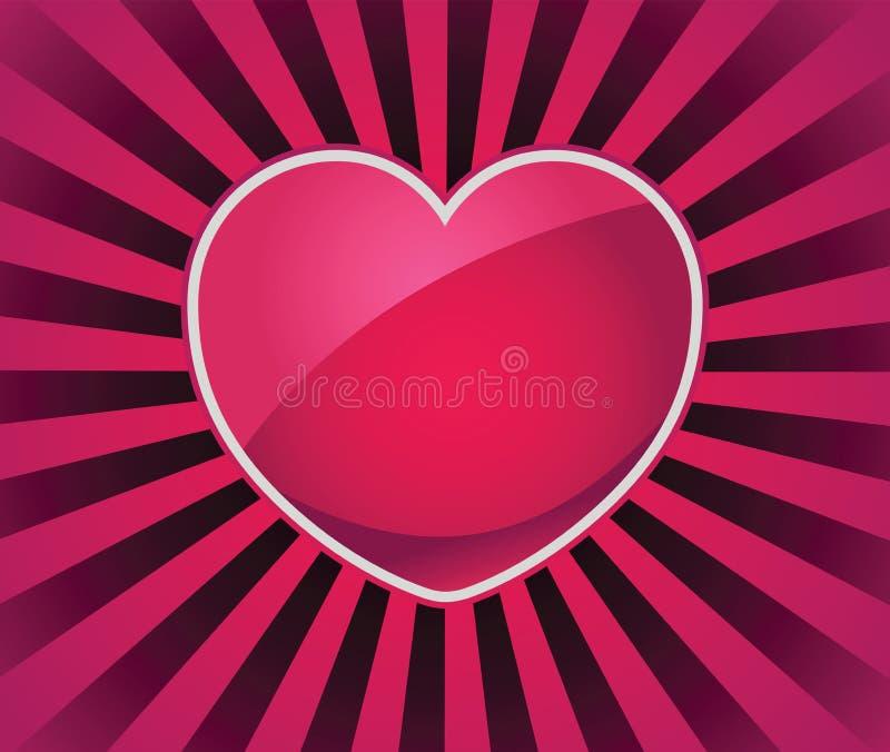 Rayos del icono del amor libre illustration