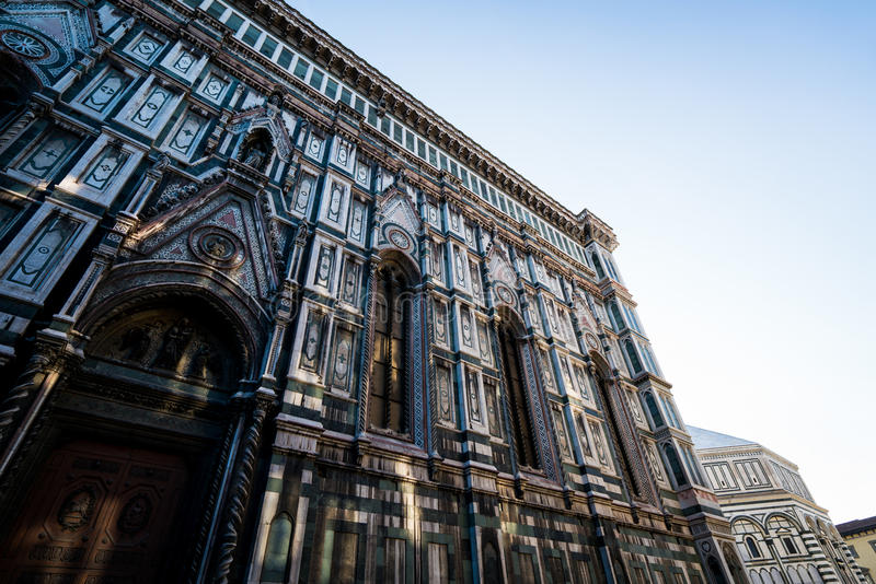 Rayos laterales del Duomo fotos de archivo