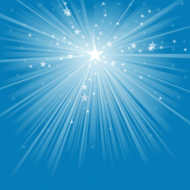 Rayos ligeros y estrellas ilustración del vector