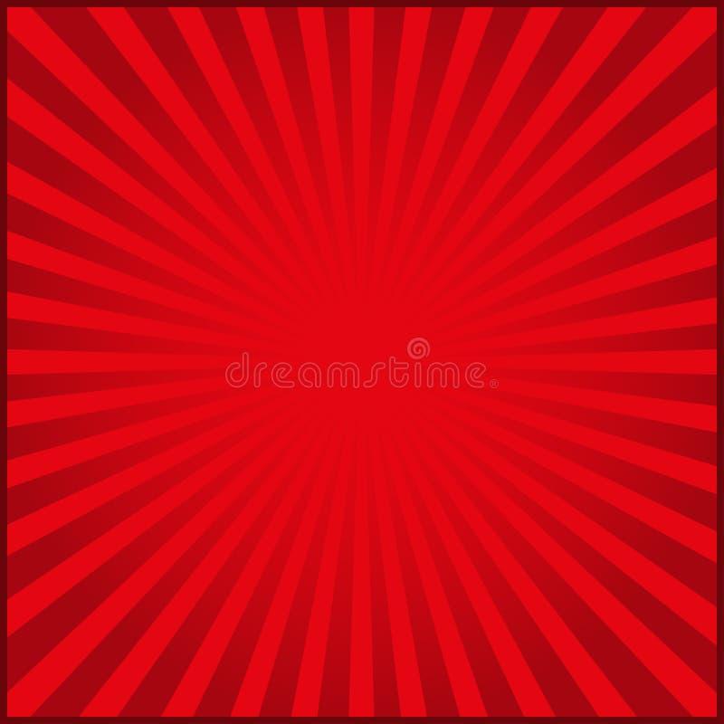 Rayos rojos del fondo del carnaval Ilustración del vector ilustración del vector