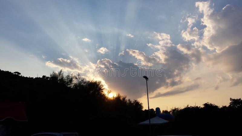 Rayos solares fotografía de archivo