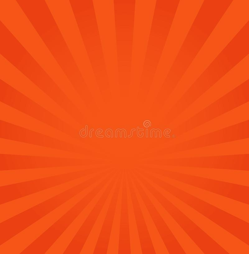 Rays background vector illustration, orange or red ray from royalty free illustration
