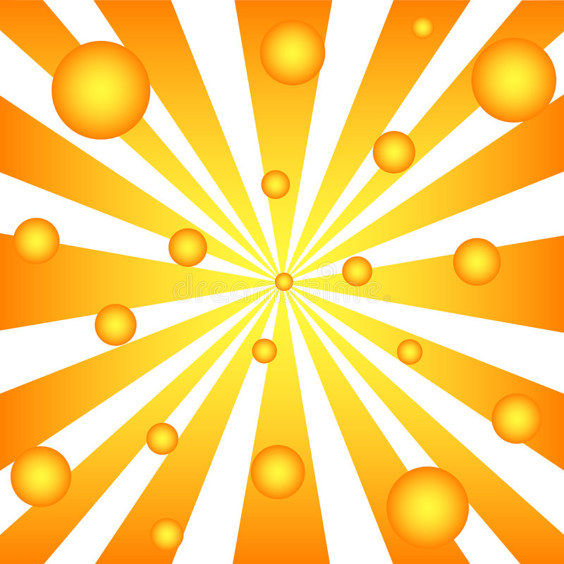 Rays and balls royalty free illustration