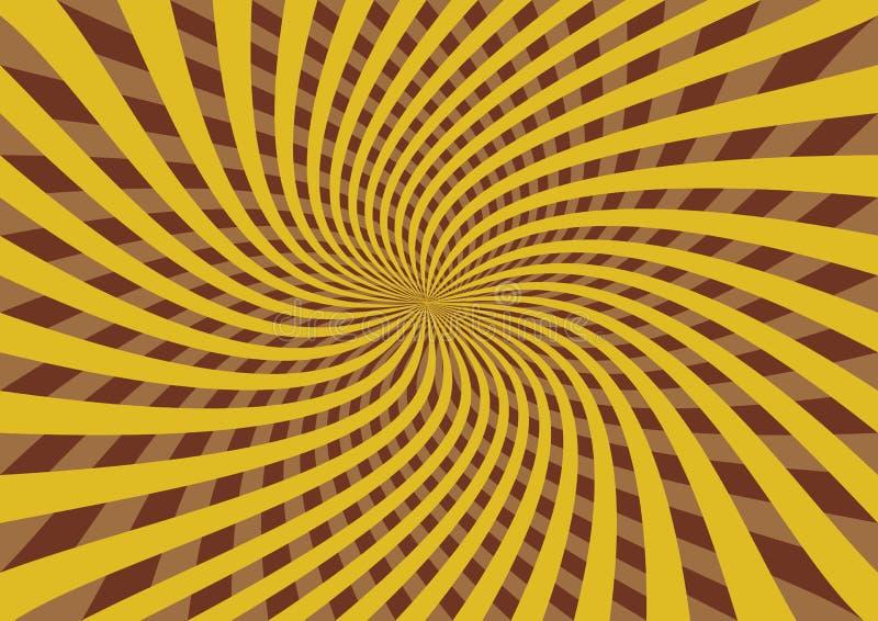 rays den retro sunen royaltyfri illustrationer