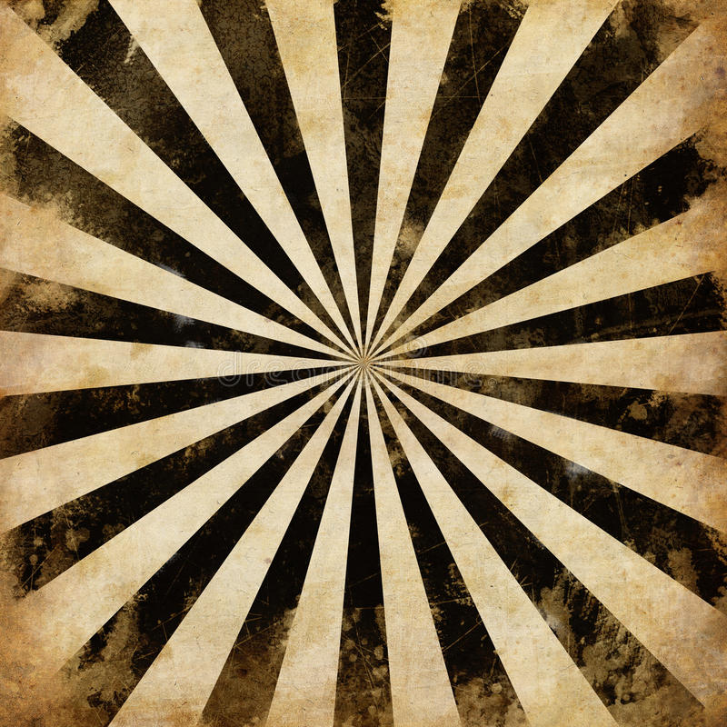 Rays den svarta sunbursten för tappning illustrationen royaltyfri illustrationer