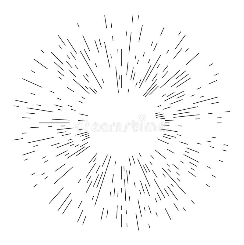 Rays element. Abstract circular geometric shape. stock photo