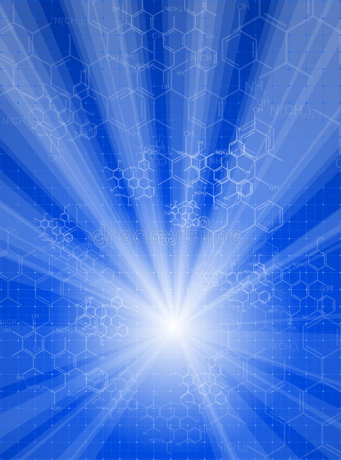 Free Rays Light & Chemical Formulas Royalty Free Stock Images - 6104739