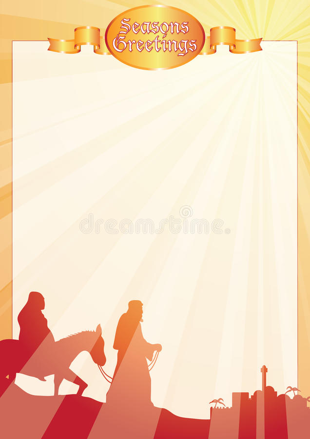 Download Rays Mary And Joseph Greetings Letterr Stock Vector - Illustration of manger, christian: 22144833