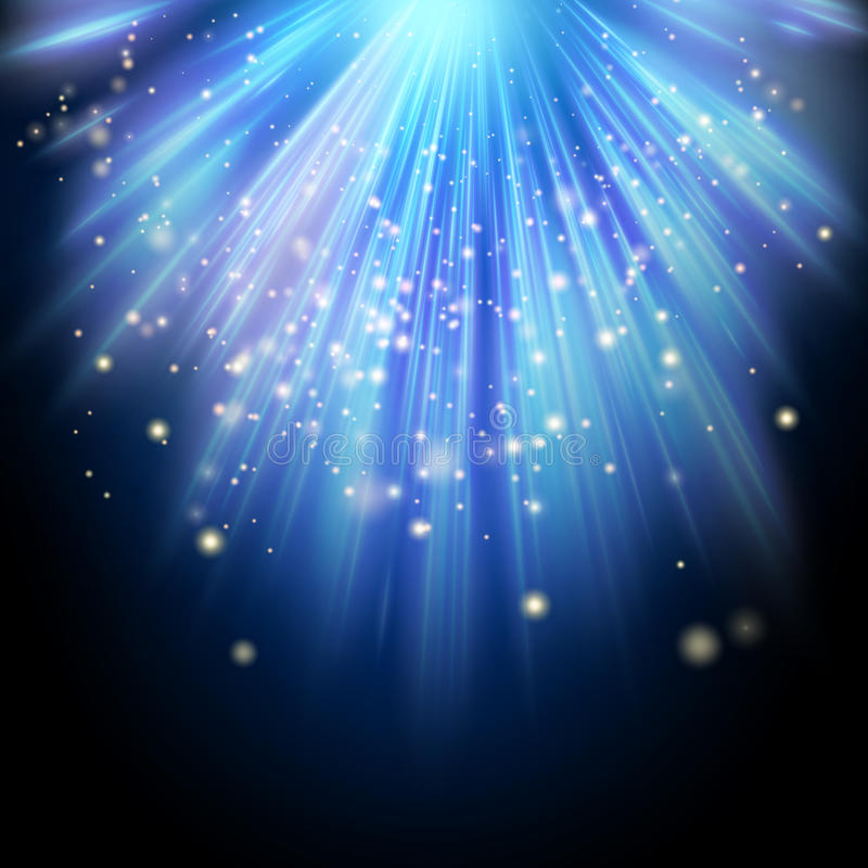 Free Rays Of Light Flowing Down. EPS 10 Royalty Free Stock Photos - 82934318