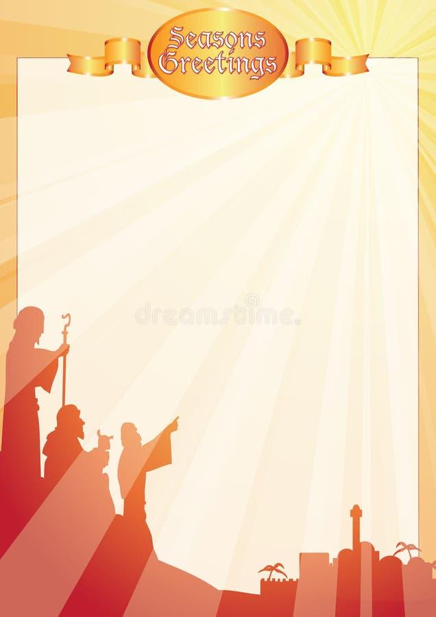 Rays shepherds greetings letter vector illustration