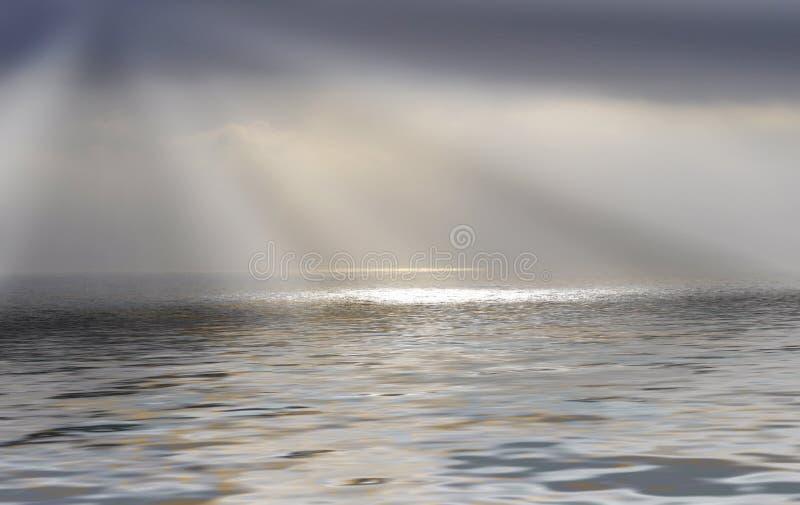 rays solsken royaltyfri foto