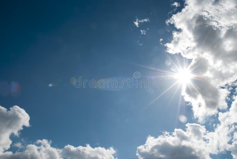 Rays of sun royalty free stock photos