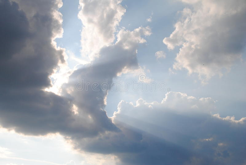 Rays of the sun royalty free stock photo
