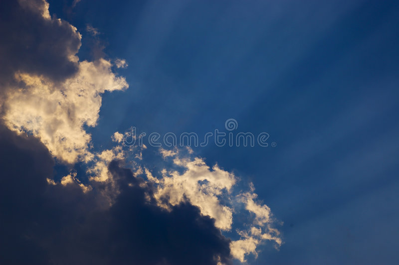 Rays of sunlight stock photography