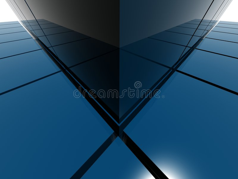 Raytrace pyramid structure. Blue raytrace pyramid structure stock illustration