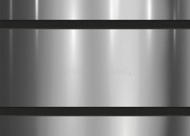 Rayure abstraite de mur de fond de texture métallique illustration de vecteur