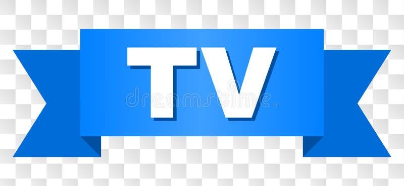 Rayure bleue avec le télétexte illustration stock