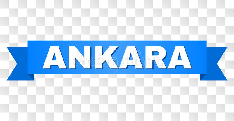 Rayure bleue avec le texte d'ANKARA illustration libre de droits