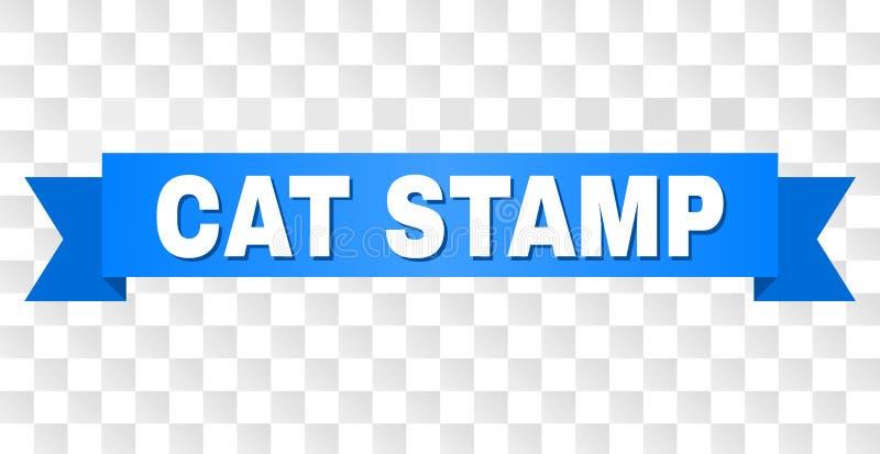 Rayure bleue avec le titre de TIMBRE de CAT illustration stock