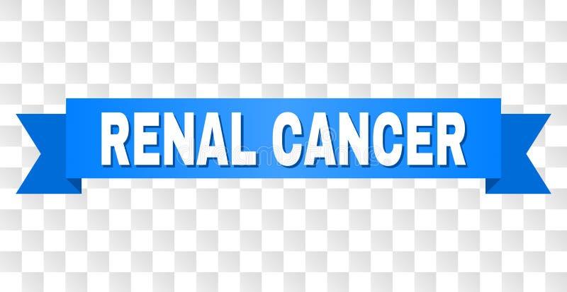 Rayure bleue avec le titre RÉNAL de CANCER illustration libre de droits