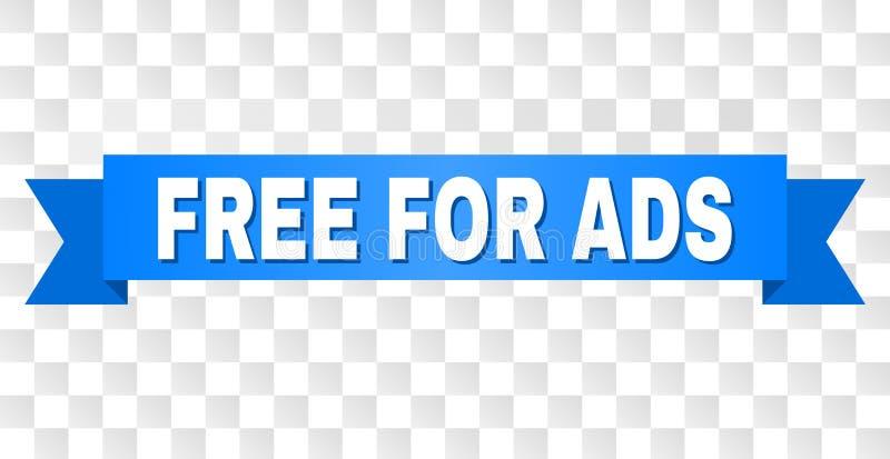 Rayure bleue avec LIBRE POUR la légende d'ADS illustration libre de droits