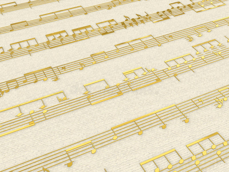 rayure d'or de fond illustration de vecteur