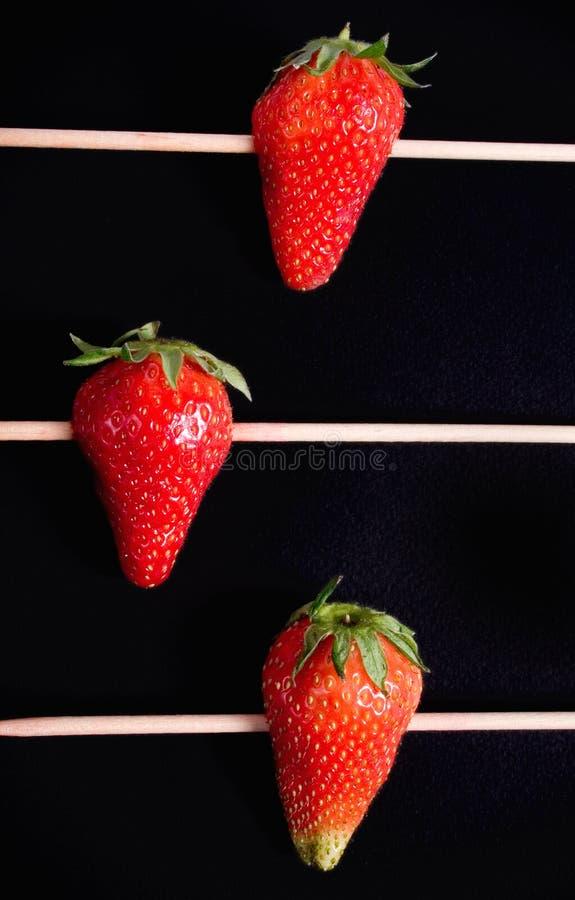 Rayure de fraise photographie stock