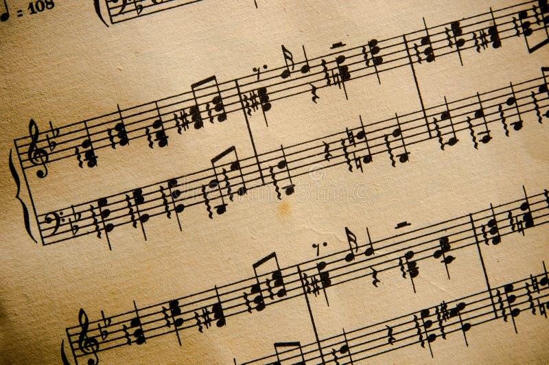 Rayure de musique classique de cru photographie stock libre de droits
