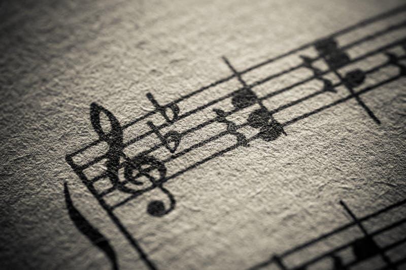 Rayure de musique classique de cru image libre de droits