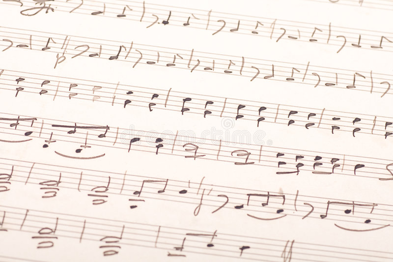 Rayure manuscrite de musique images stock