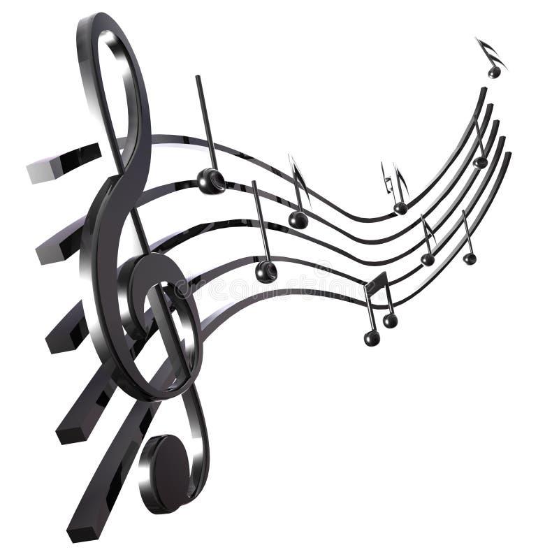 Rayure musicale illustration stock