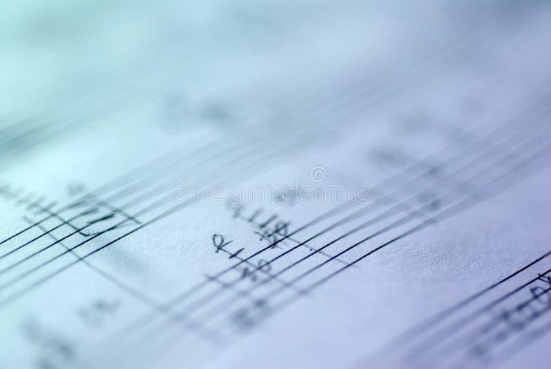 Rayure musicale manuscrite photographie stock libre de droits