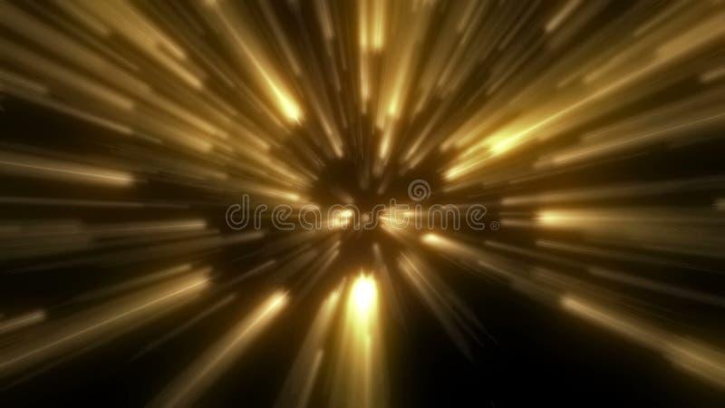 Rayure rougeoyante de lumière d'or de fleur images stock