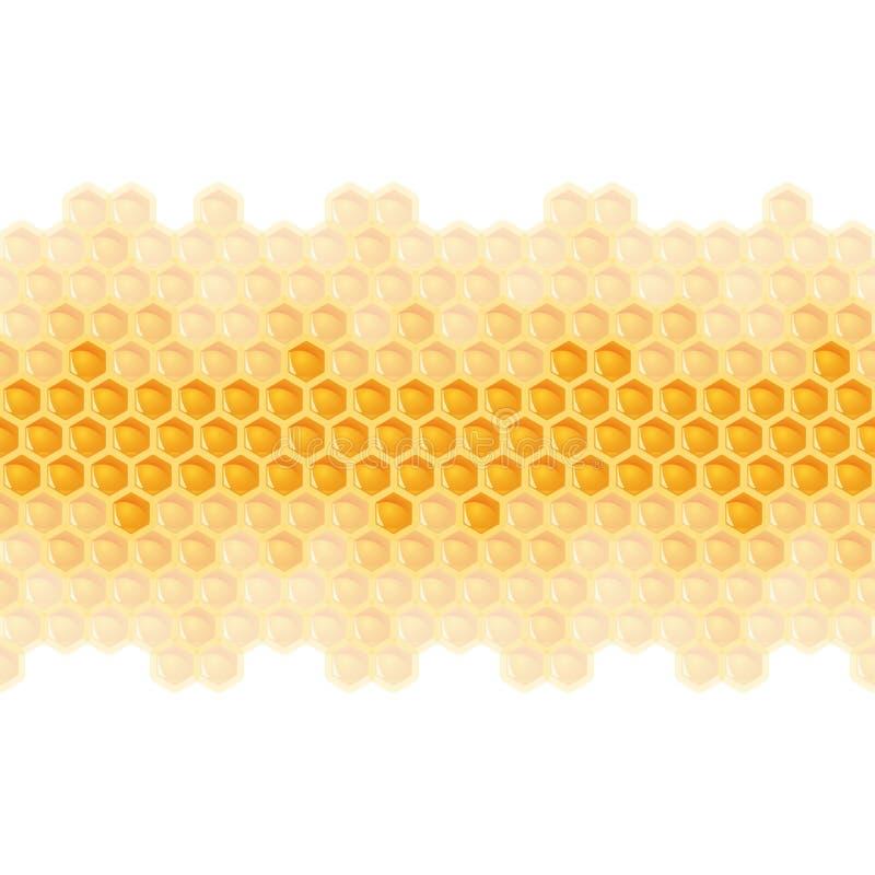 rayure sans couture de peigne de miel illustration de vecteur