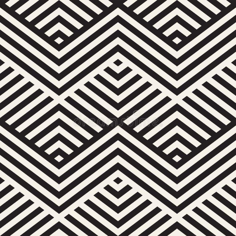 Rayures abstraites de parallèle de zigzag Ornement ethnique élégant Dirigez la configuration sans joint illustration stock