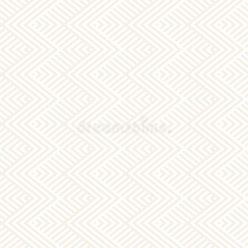 Rayures abstraites de zigzag Ornement ethnique élégant Dirigez la configuration sans joint Répétition du fond subtil illustration libre de droits
