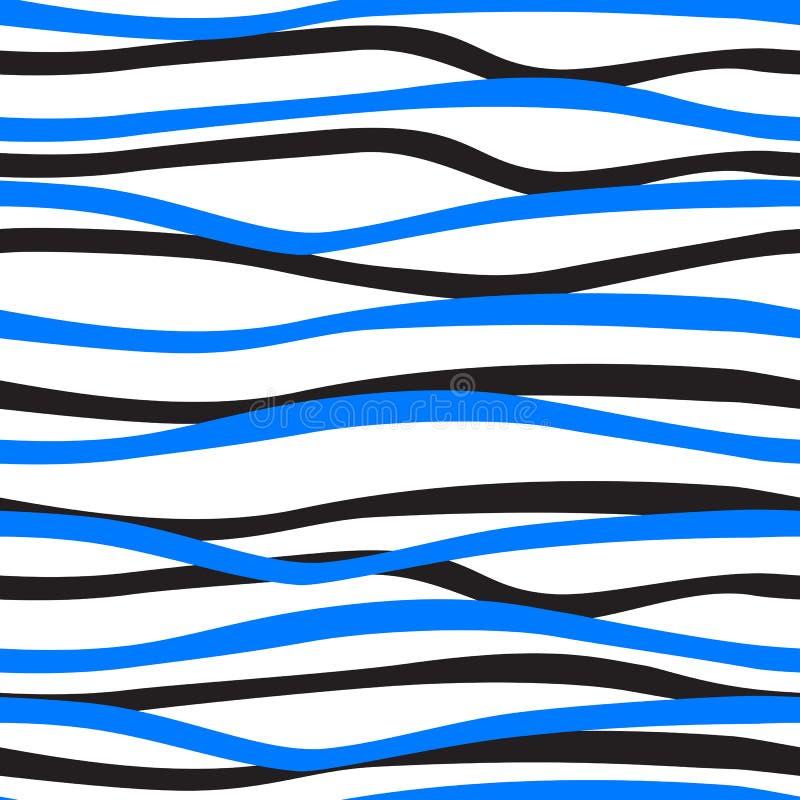 Rayures bleues et noires sur un fond blanc illustration de vecteur