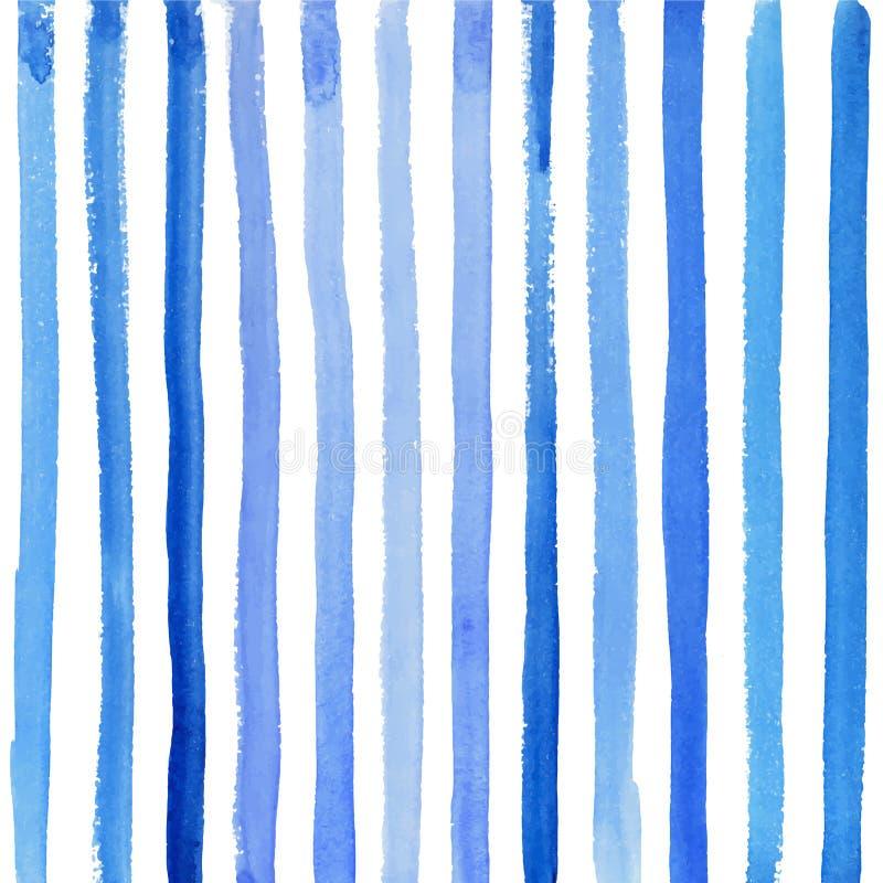 Rayures bleues sur un fond blanc illustration stock