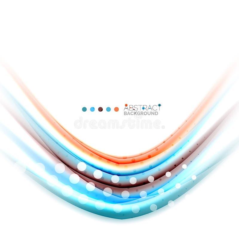 Rayures brouillées colorées, fond abstrait illustration de vecteur