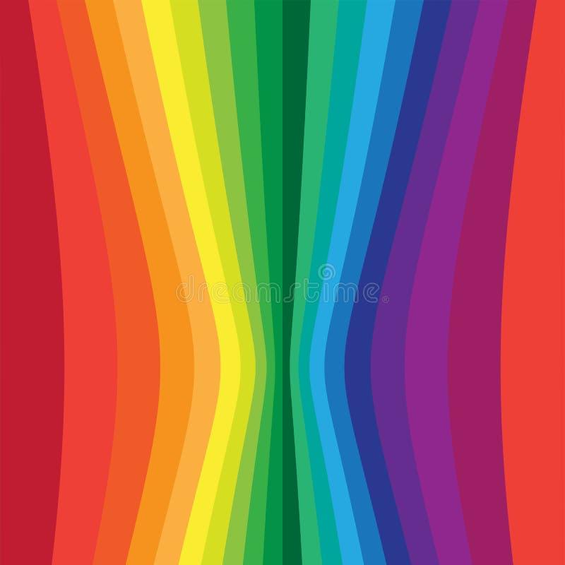 Rayures colorées verticales tordues illustration stock