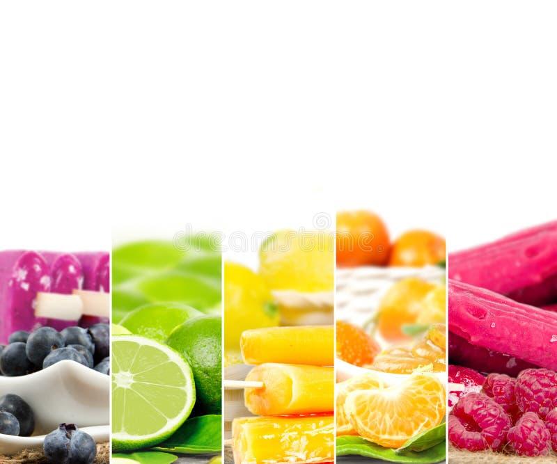 Rayures de mélange de crème glacée de fruit image libre de droits