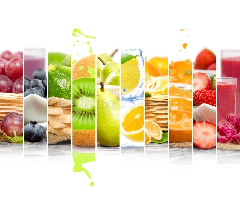 Rayures de préparation de fruit image stock