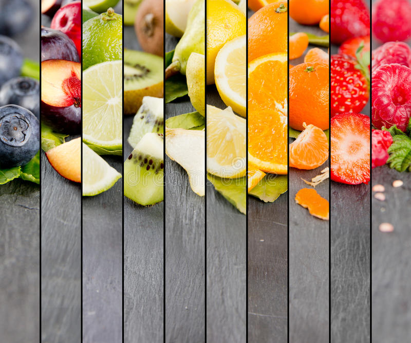 Rayures de préparation de fruit photographie stock