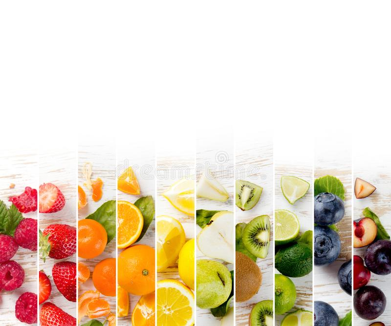 Rayures de préparation de fruit images libres de droits